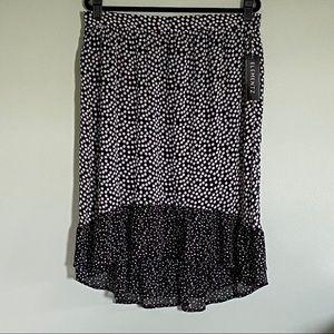 ELEMENTZ- NWT high/ low polka dot skirt.